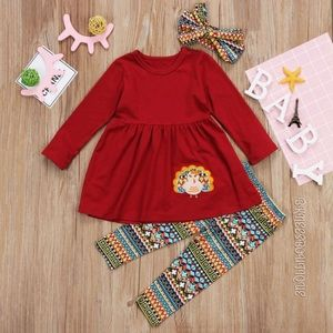 Thanksgiving Day Little Girl Boutique Set